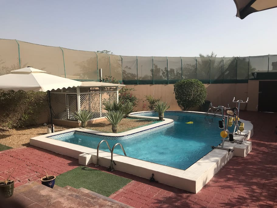 Privat swimming pool and garden