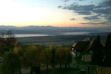 Vue sur le lac de Neuchâtel - Villars-Burquin - Pis