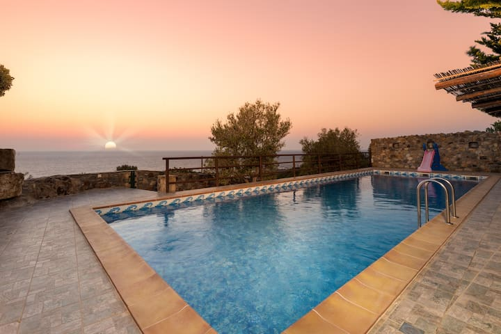 Sea Views Villa Lefkothea with Private Pool