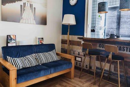 「故室」复古巴黎 河源市中心 万隆城高层 沃尔玛楼上 带厨房餐具 万绿湖15分车程 火车站10分车程