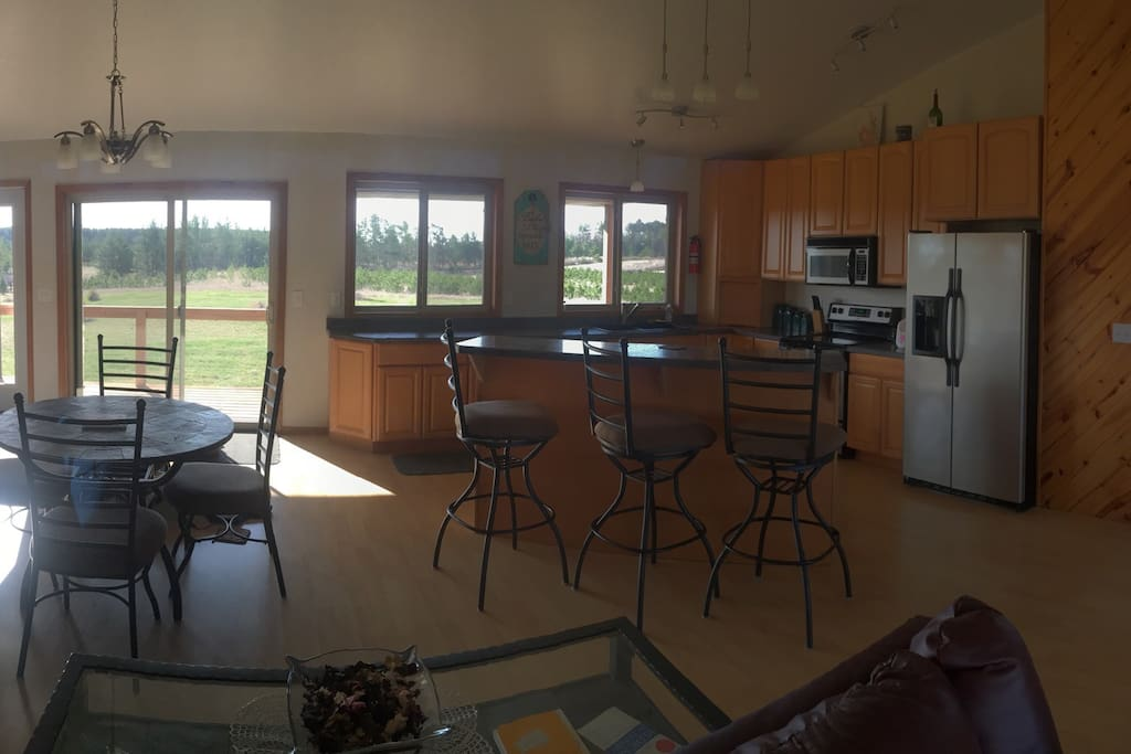 Kitchen and dining.