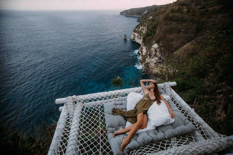 Tropical Glamping 🌴 Cliff Side Ocean View + Rete🐬