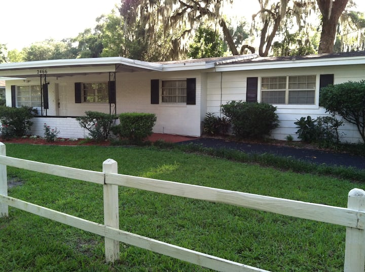 """Welcoming waterfront home in """"Old"""" Florida."""