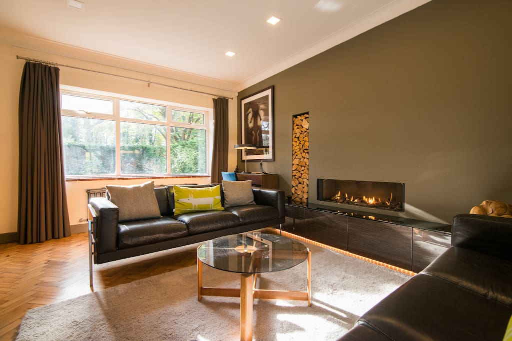 Formal lounge, great for cosy winter nights. Fire is a very high spec Dru remote control, gas fire. Most think it's real!