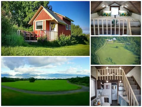 Fireweed Tiny Home On Epic 28 Acres 180° Bay View