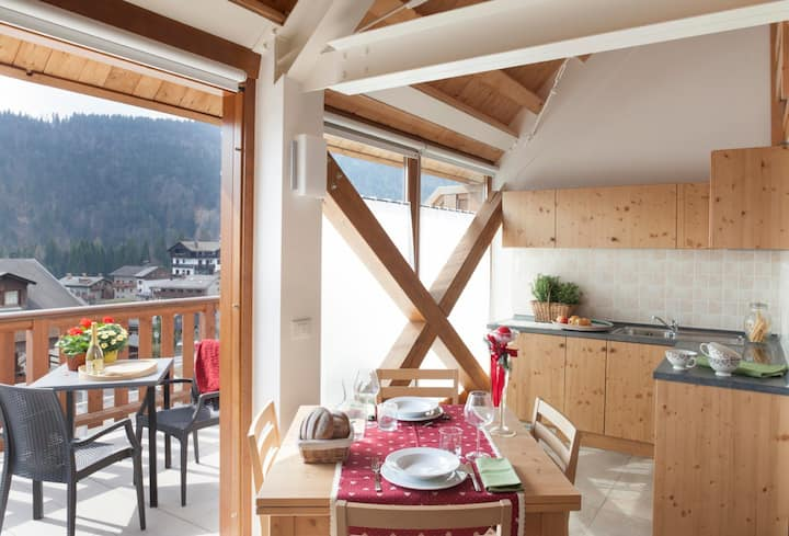 ALBERGO DIFFUSO SAURIS, Terrace suite apartment