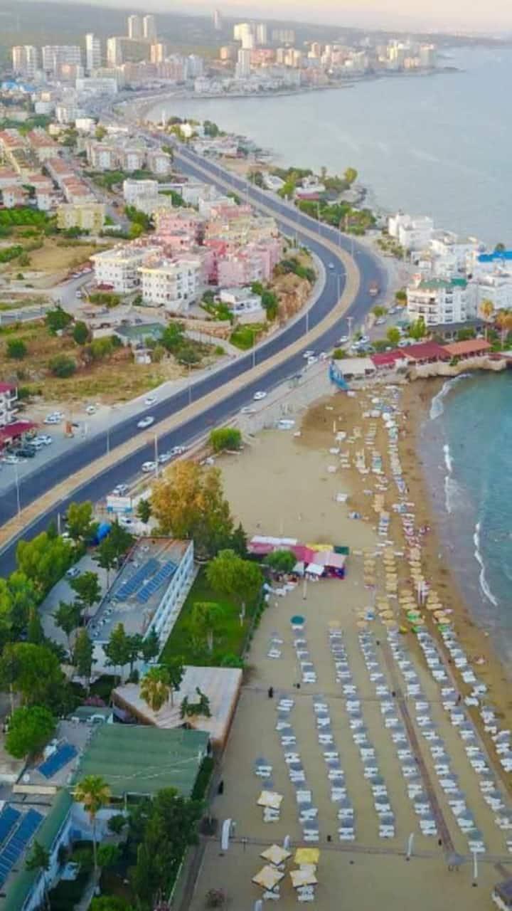balkonlu deniz manzaralı apart otel