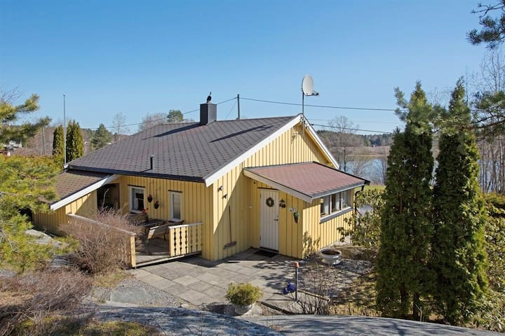 Entire property, lake views, 45 mins from Oslo.