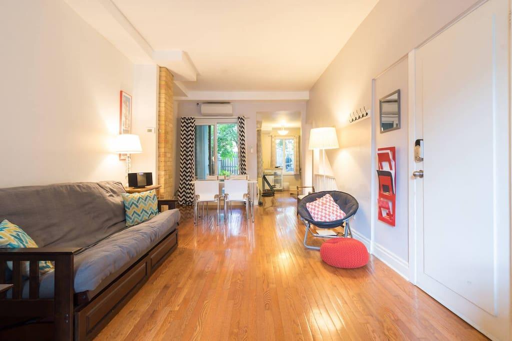 Open concept ground floor