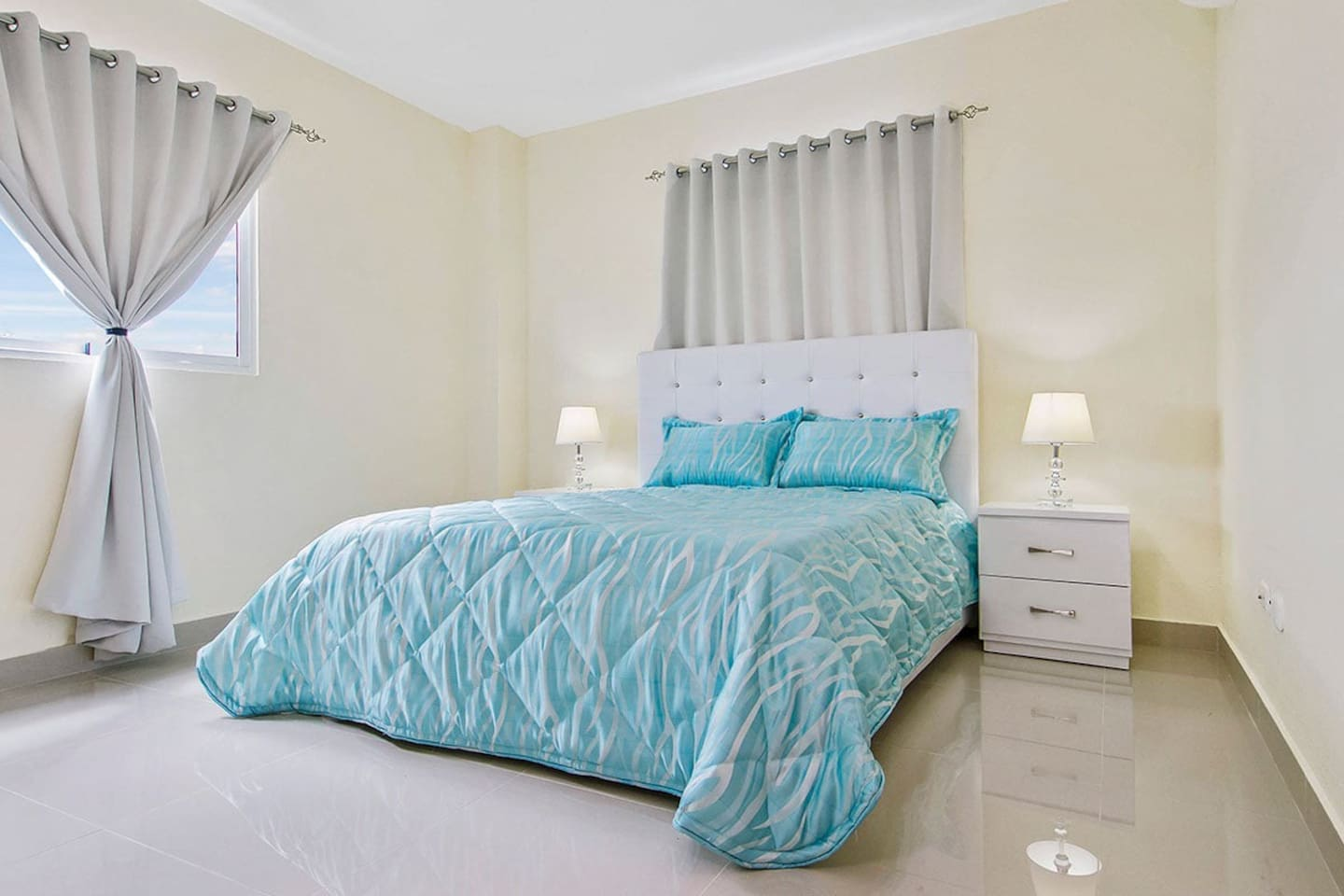 Both bedrooms feature a queen-size bed and include all linens and pillows