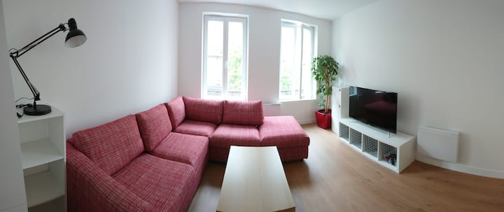 Chambre 2 dans spacieux duplex plein centre ville