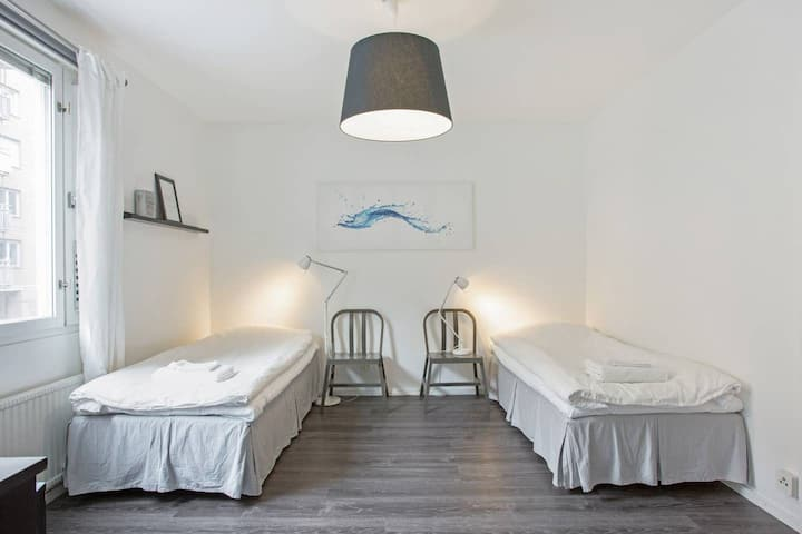 1 room, 2x90cm beds, Central Stockholm Södermalm