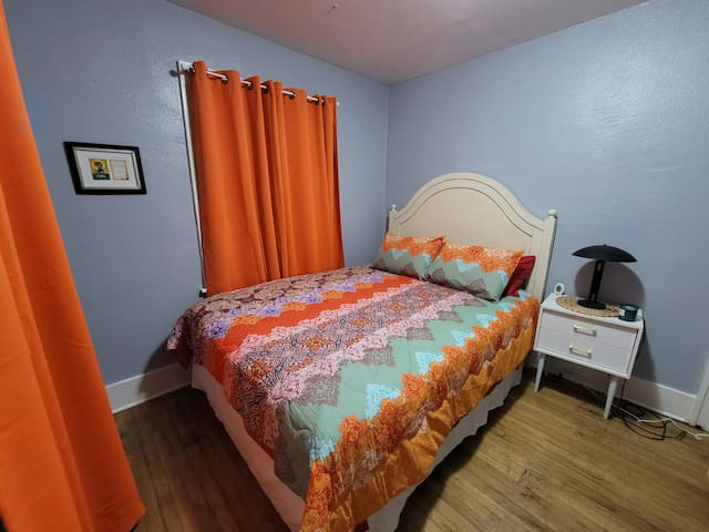 Master Bed Room New Bed ..Bright Colors