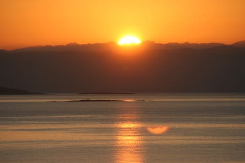 Oceanview with spectacular sunrises and sunsets