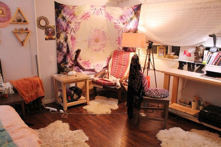 Boho Bedroom near PNE Playland