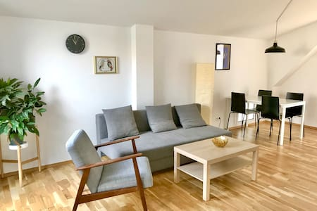 Top floor apartment with private roof terrace