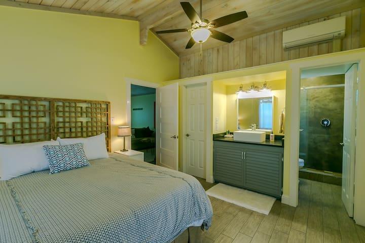 Bedroom looking towards living