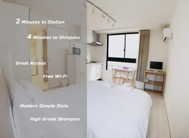 【Go To 対応】LA202 Shinjuku Apartment Free WiFi