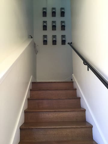 A short set of stairs up and then again to the right will lead you to your wine country getaway!