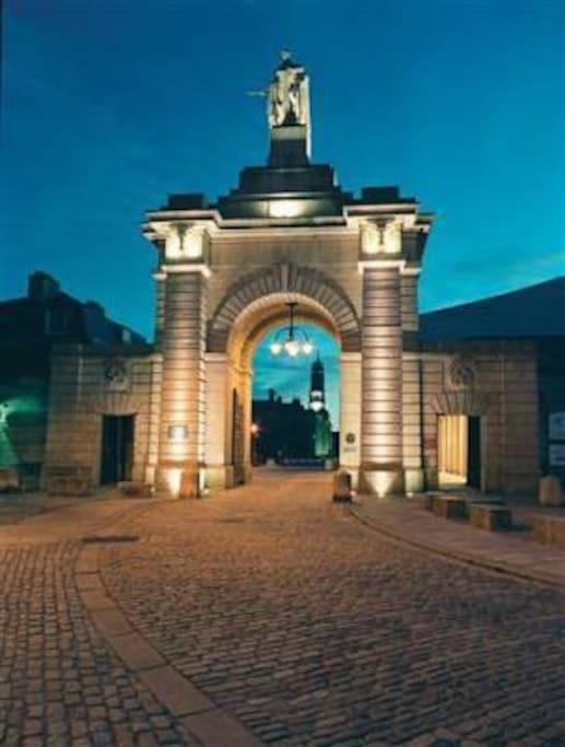 Entrance to Royal William Yard