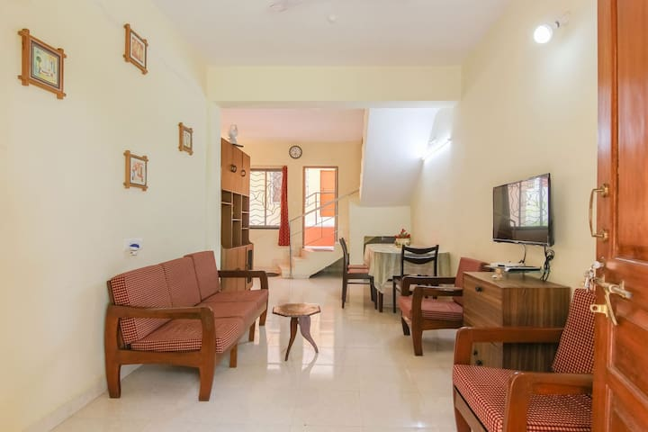 3 bedroom villa #1 for upto 10 in North Goa