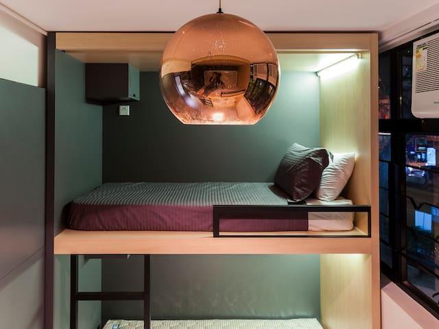 1.2 Sleep in Cozy Hostel (A Pod in Mixed Dorm)