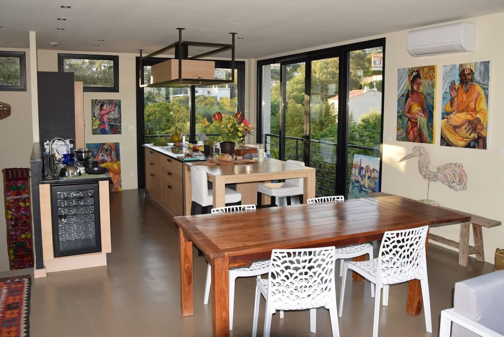 Main living space: Dining Table and Kitchen