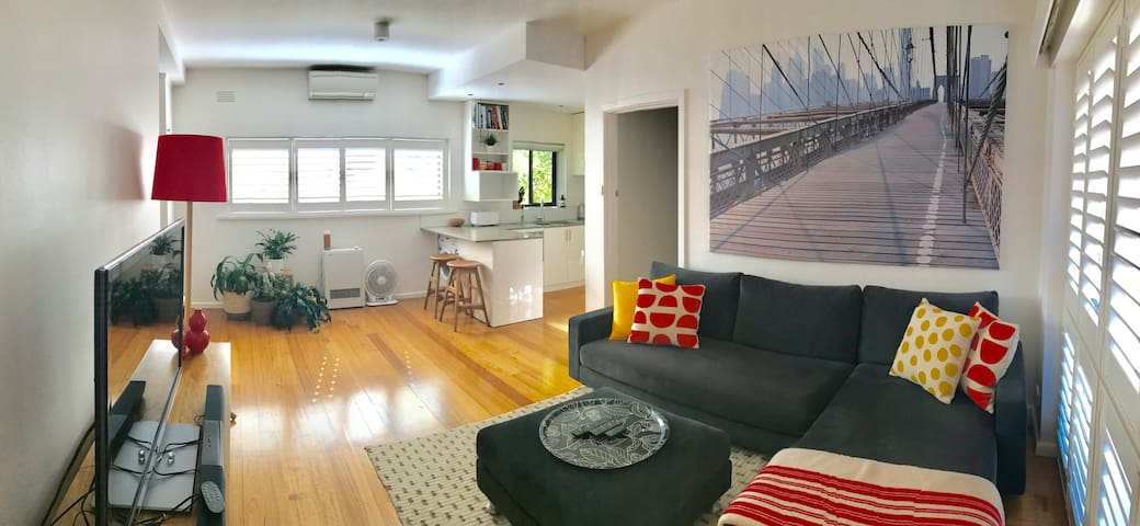 Stylish & Light Filled 1BR Hawthorn Apartment - Hawthorn - Flat