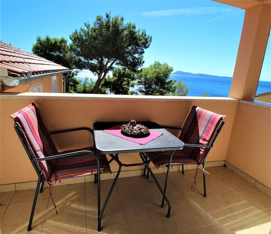 Zaglav apartment***-above beach, terrace&seaview