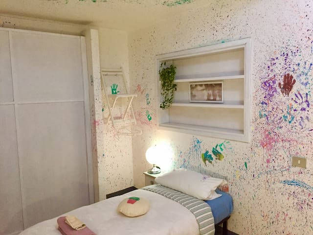 your colorful bedroom :)