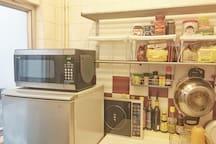 Microwave electrical stove fridge freezer and seasoning