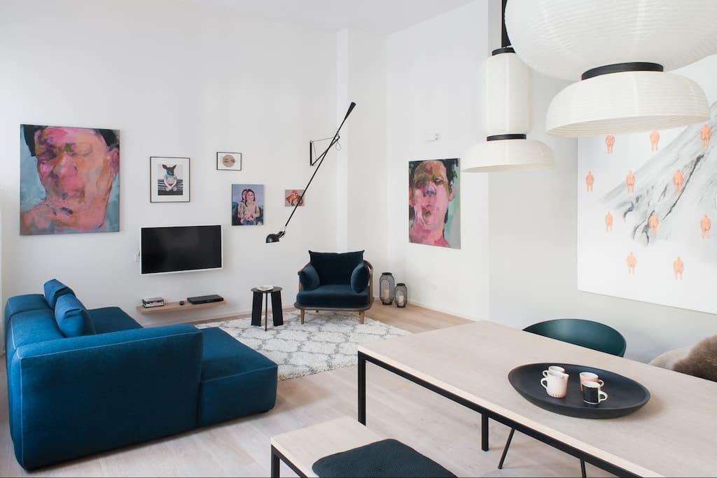 spacious living room, Hay sofa