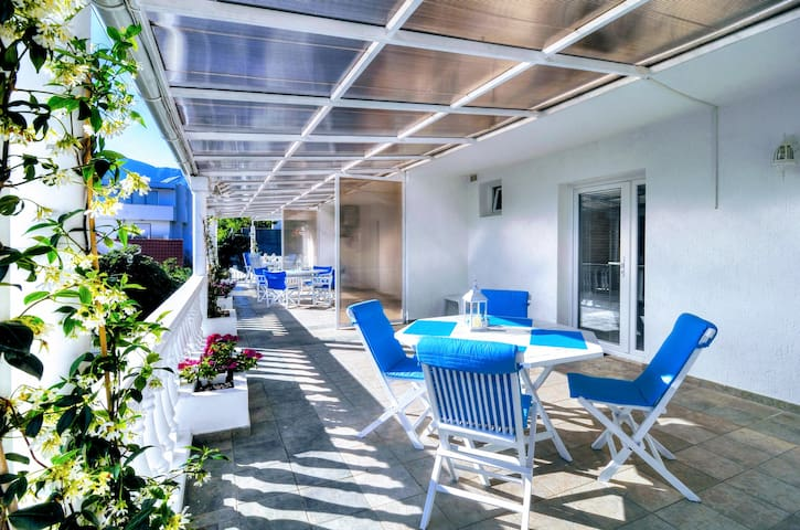 Bayview Apartment - 25m2 Terrace overlooking Tivat Bay. Quiet, cozy, comfortable place for your vacation in Montenegro.