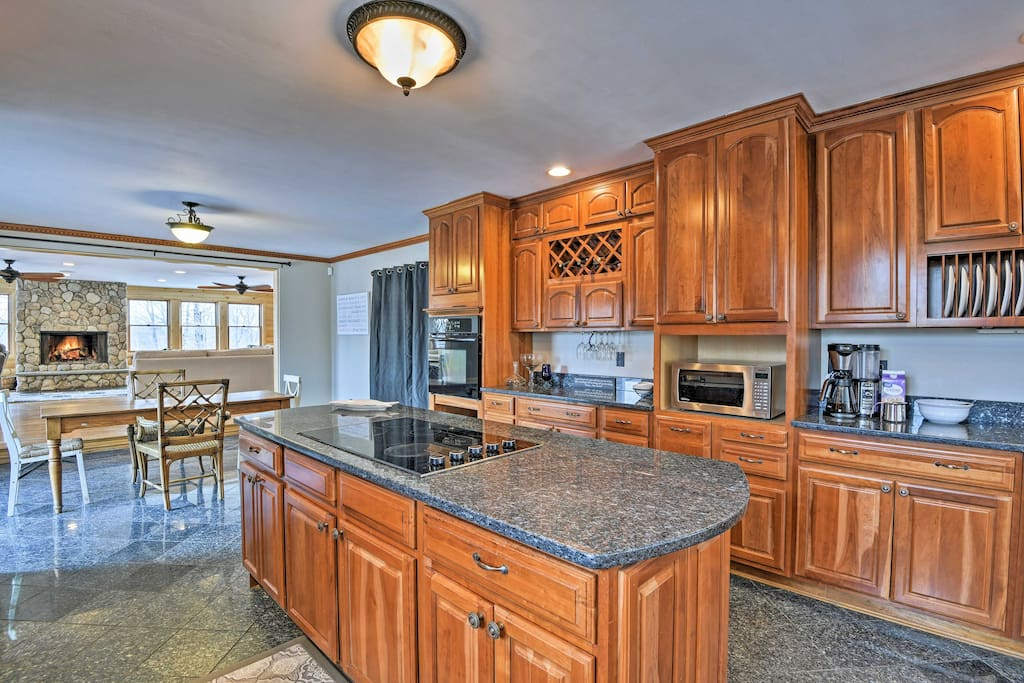 Designed to impress, the fully equipped kitchen is ready to help you prepare a home-cooked meal.