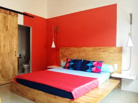 Chambre Design au centre (Air conditionné)