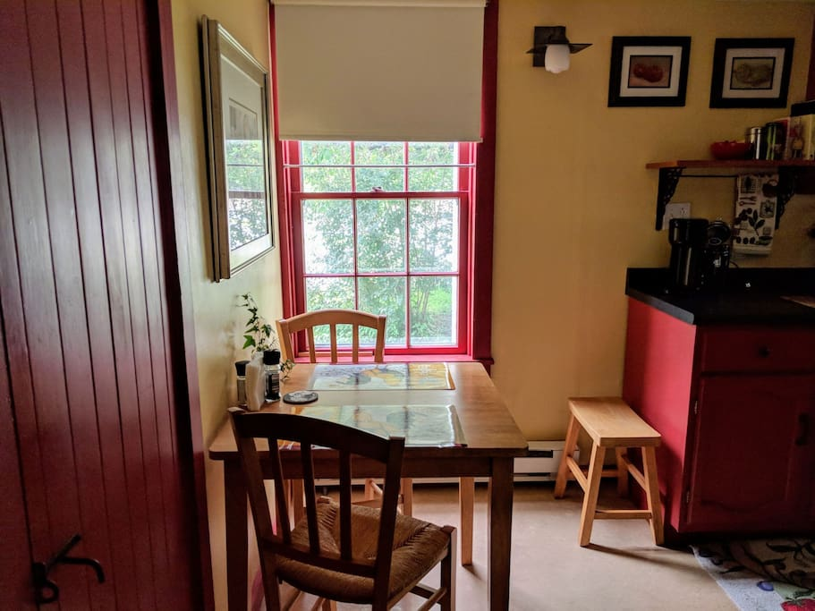 Warm country kitchen with breakfast nook
