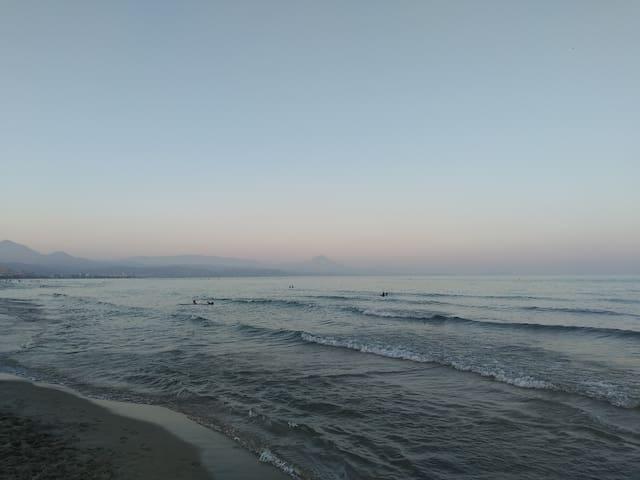 Playa de San Juan una tarde de verano...