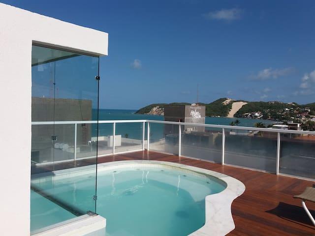 ES - Vip Praia Hotel ap 306 varanda frente mar