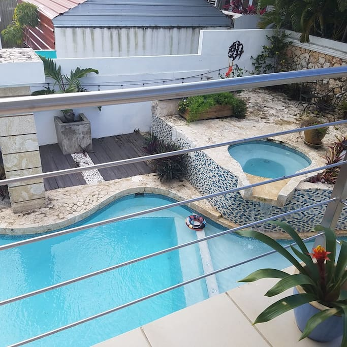 Pool view from second level terrace
