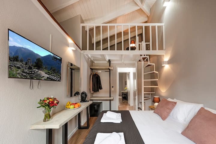 White Hills Modern Room at Center οf Arachova 201.