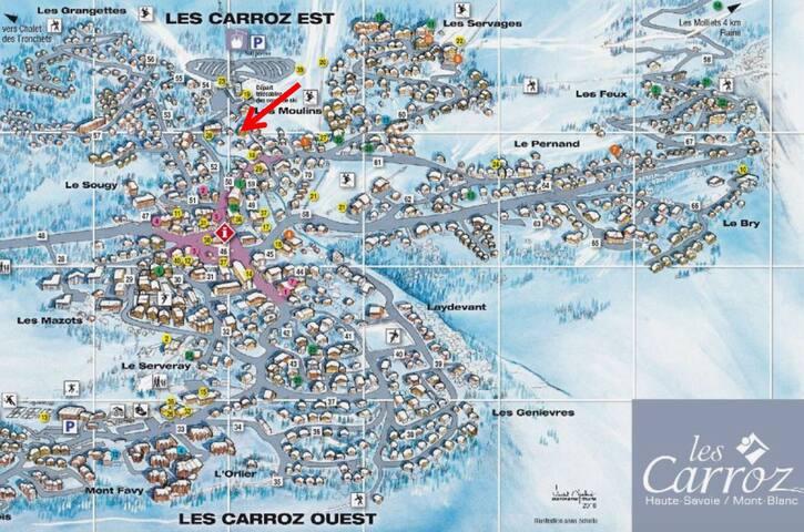 Carroz d'Araches ski aux pieds 5 personnes - Arâches-la-Frasse - Wohnung