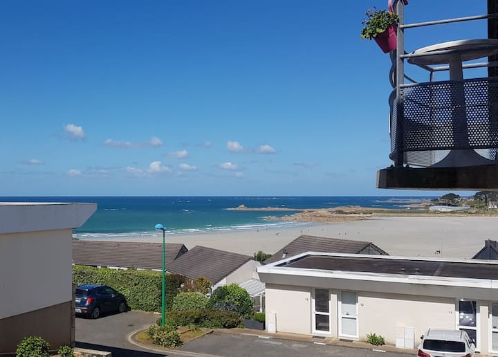 Appart confort vue imprenable plage de Trestel