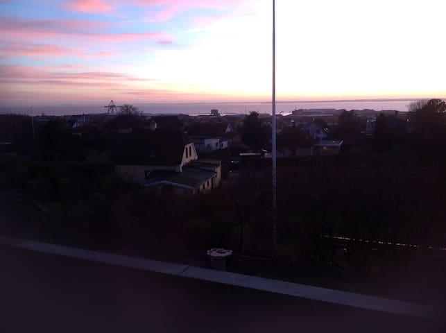 Panorama over by og havn - Hundested - Maison