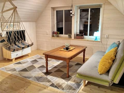 Self check-in Attic Suite next to Nature Reserve