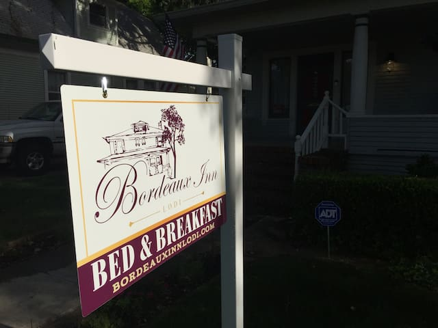 Our classy B&B sign.