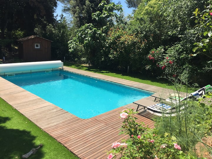 maison piscine jardin exceptionnel