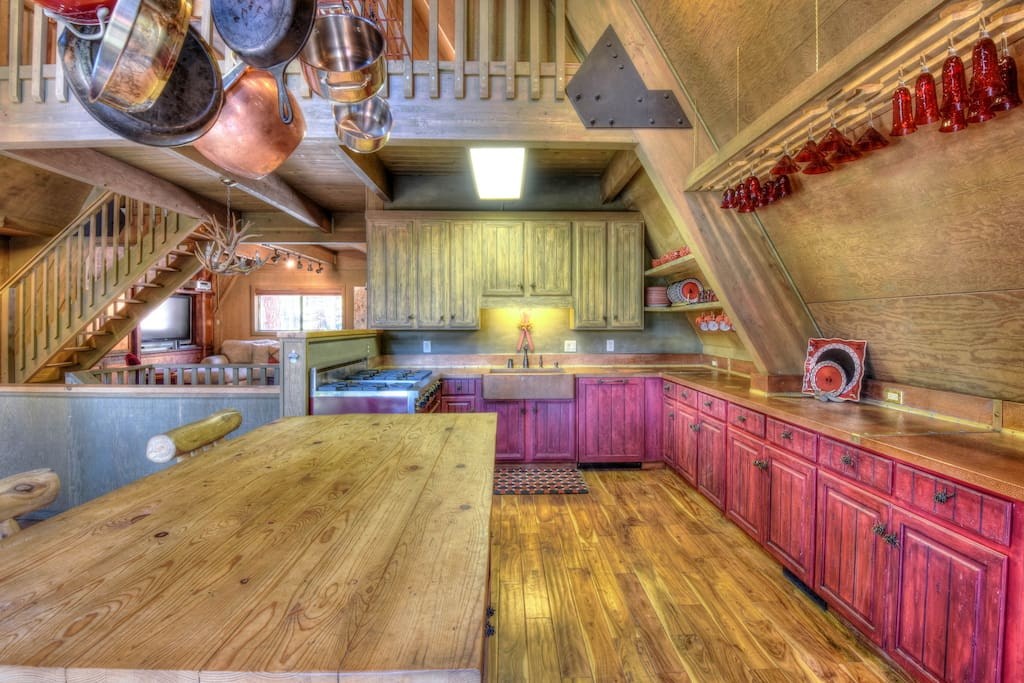 Spacious kitchen with amenities