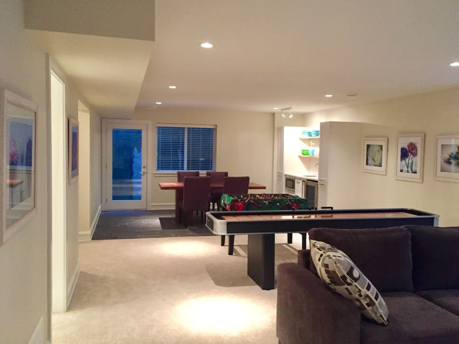 Open living and playing space.