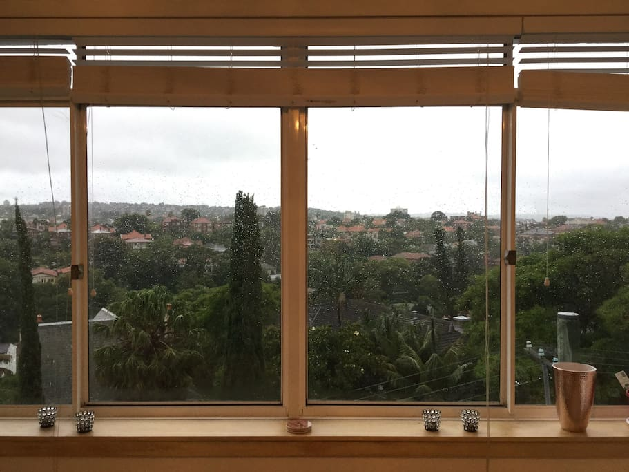 View from living room (rainy day)