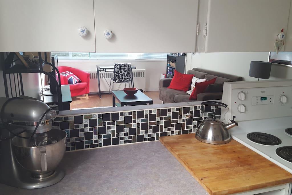 A sneak-peek through the kitchen peek through!